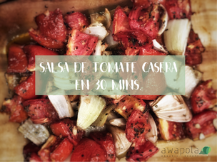 Salsa de tomate en 30 mins.