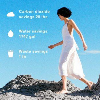 medición de impacto ambiental de ropa