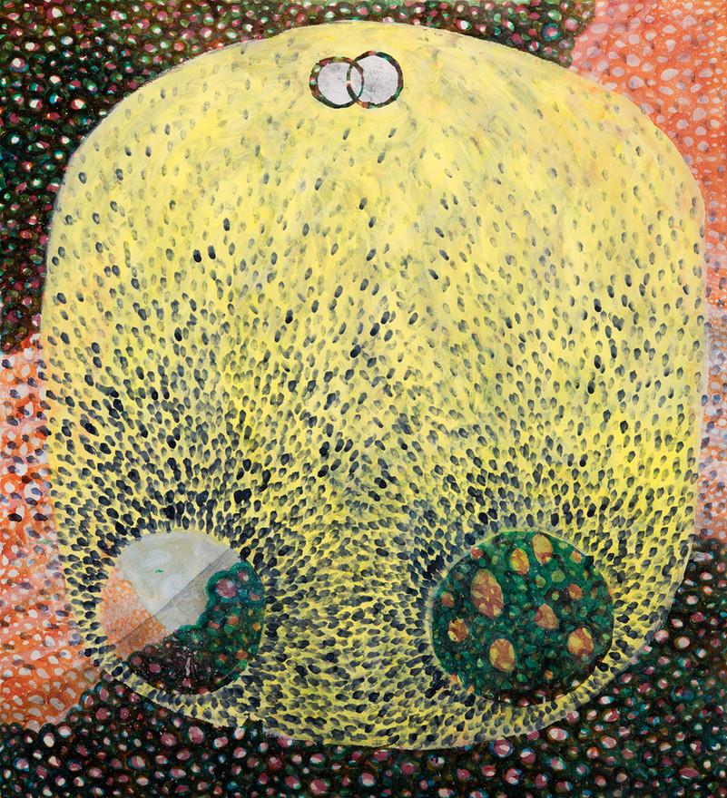 "Untitled 2020 Acrylic on canvas 45"" x 48"""