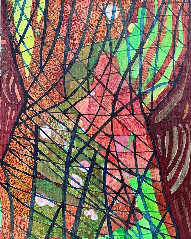 "Untitled  2019 Acrylic on panel 8"" x 10"""