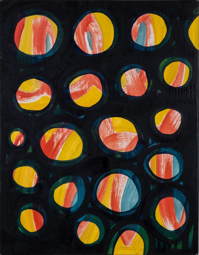 "Untitled  2018 Oil on panel 12"" x 14"""