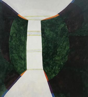 "Untitled  2019 Acrylic on canvas 48"" x 43"""