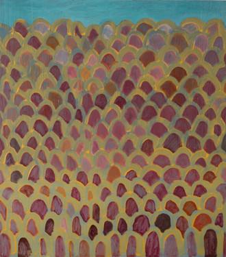 """Untitled 2018 Oil on wood panel 16"""" x 18"""""""