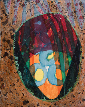 "Untitled 2020 Acrylic on panel 8"" x 10"""