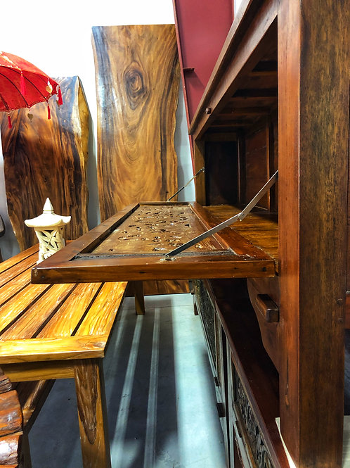 Teak Dropdown Cabinet