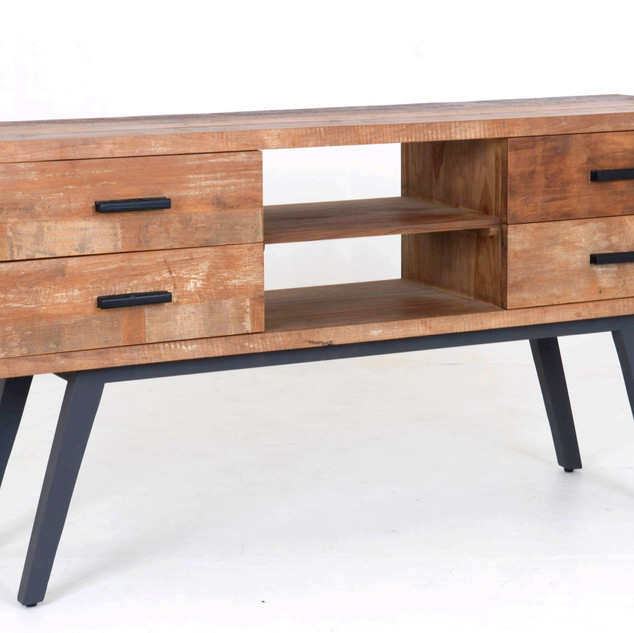 07.16966 CABINET TEAK WOOD WITH IRON BAS