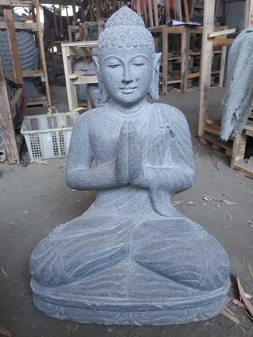 Javanese Sitting Buddha (Riverstone)