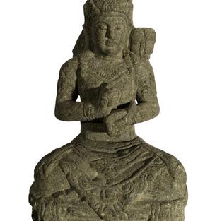 Greenstone Sitting Dewi Sri