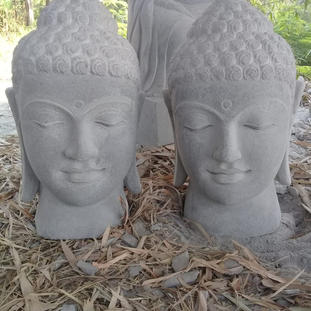 Riverstone Buddha Heads