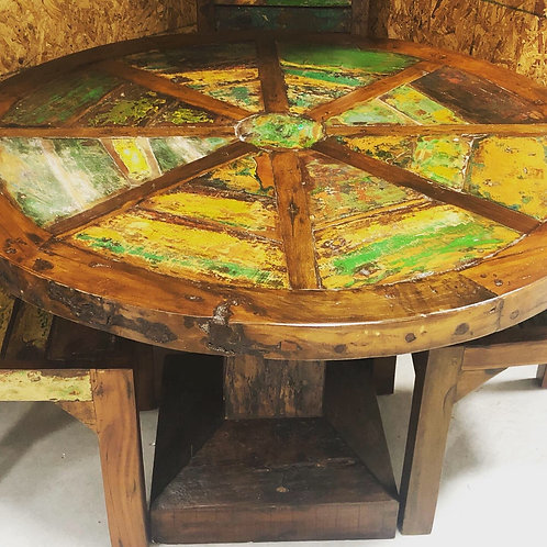 Boat Wood Dining Table Set