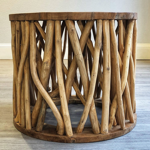Round Teak Branch Coffee Table