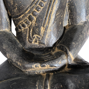 Thai Sitting Buddha Hands Detail