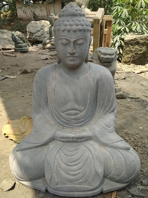 Japanese Sitting Buddha (Riverstone)