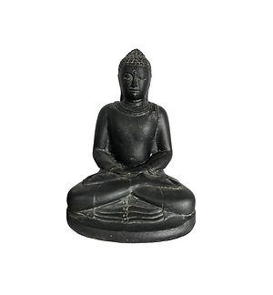 Sitting Buddha_Concrete_Medium_Front_Cat