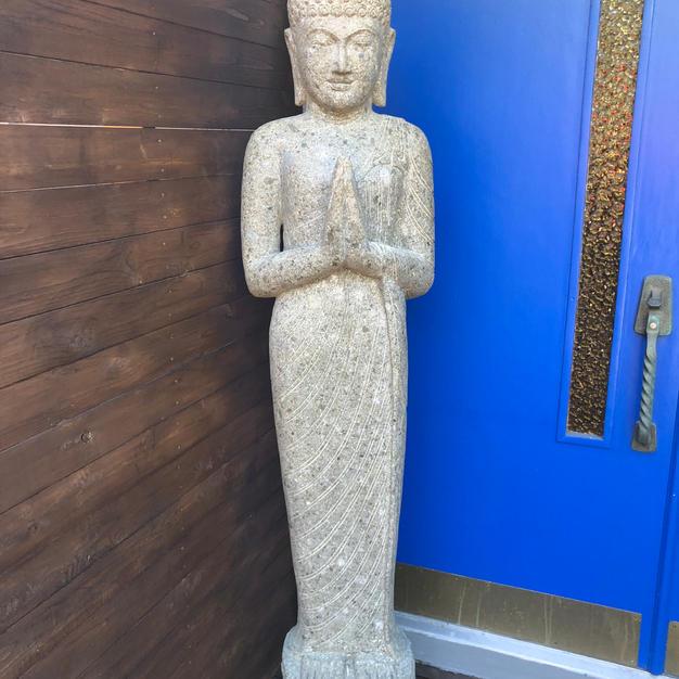 Greeenstone Standing Buddha