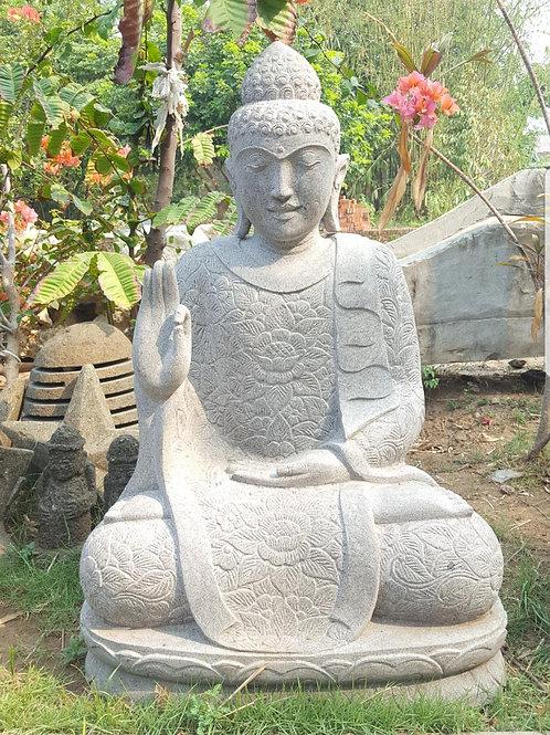 Batik Robe Sitting Buddha (Fine Art Riverstone)