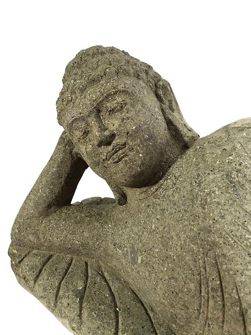 Javanese Lying Buddha (Natural Greenstone)