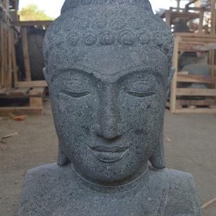 Greenstone Natural Buddha Bust