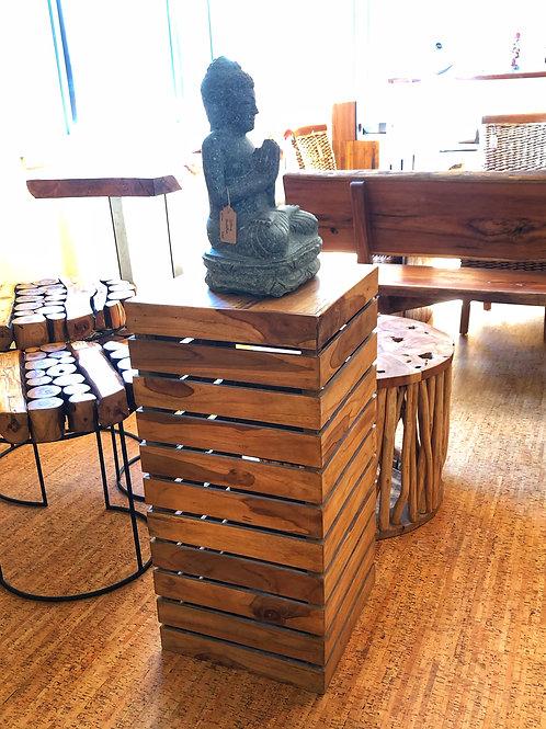Slatted Teak Display Table