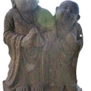 Standing Pair of Monks