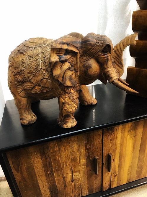 Teak Carved Elephant