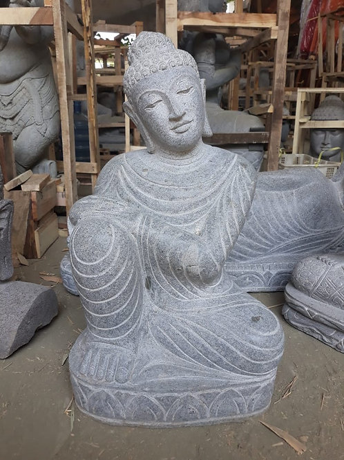 Relaxed Sitting Buddha (Riverstone)