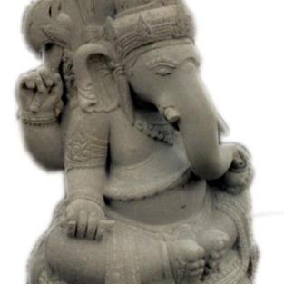Riverstone Sitting Ganesha