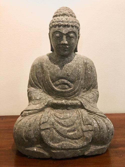Japanese Sitting Buddha (Natural Greenstone)