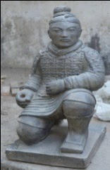 Chinese Warrior Kneeling