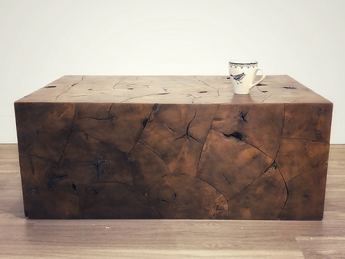 Block Teak Coffee Table