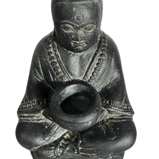 Monk with Bowl Top Angle