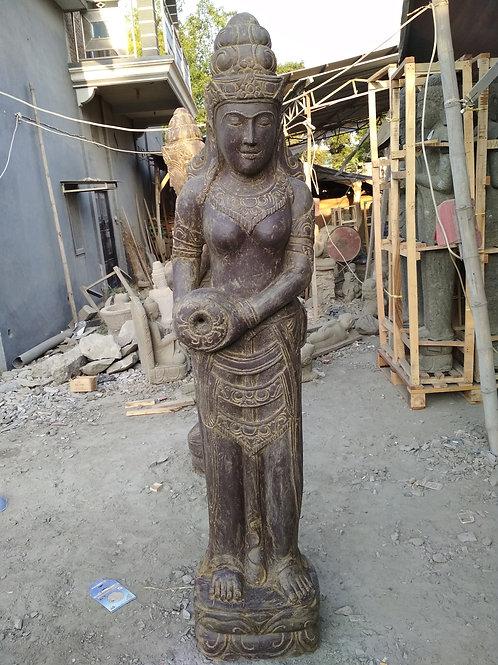 Dewi Sri w/ Pot (Antique Greenstone)