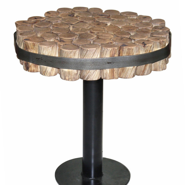 24.12838.01-A SIDETABLE WITH IRON BASE -