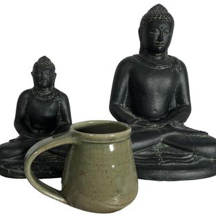 Sitting Buddha Pair - Scale