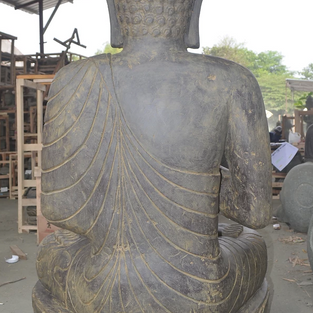 Greenstone Antique Sitting Buddha Back