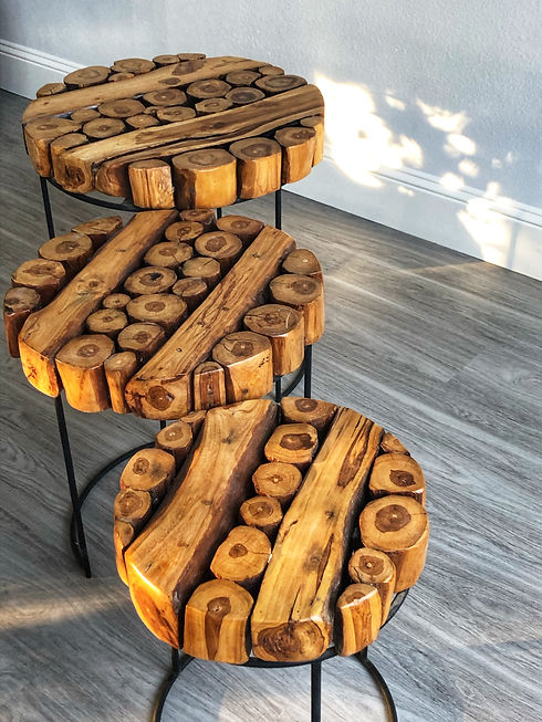 Round Log Nesting Tables - Top View.JPG