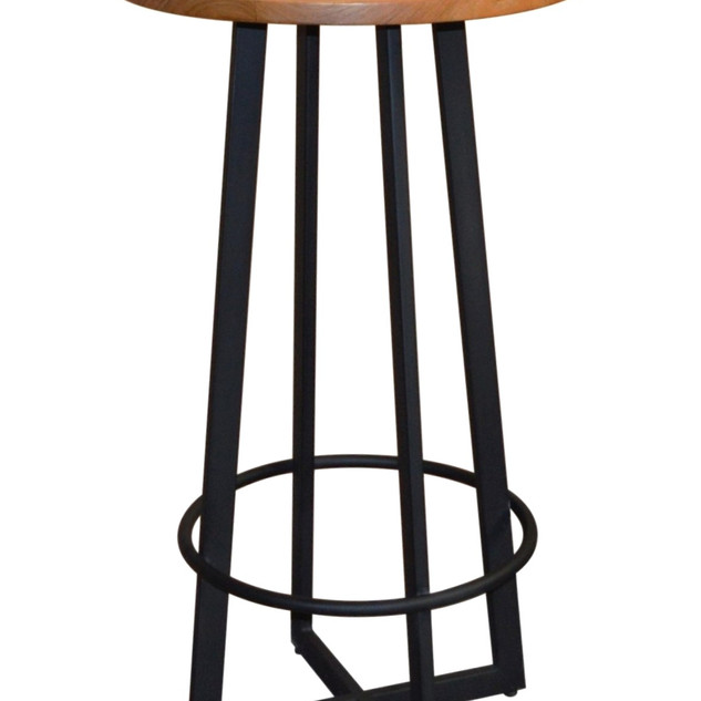 23.12856 ROUND BARTABLE -WITH TEAK WOOD