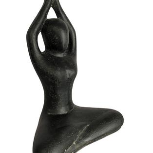 Yoga Pose Arms High Angle
