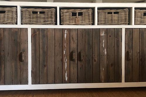 Aimann 4 Door 5 Drawer Cabinet (Brown/White)