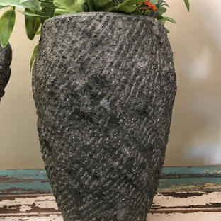 Hand-carved with natural rough texture