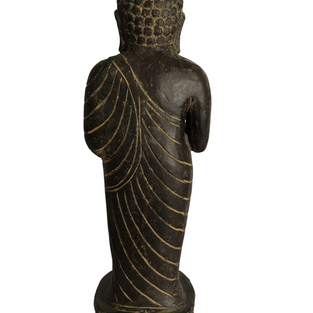 Small Standing Buddha Back - 360 Carving