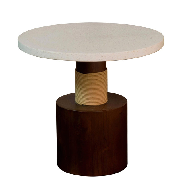 24.18381 SIDETABLE WITH TEAK WOOD IN PIN