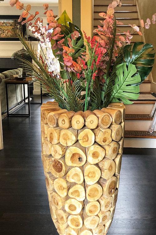 Antique Log Vase