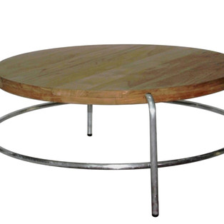 22.13962 ROUND COFFEETABLE TEAK TOP WITH