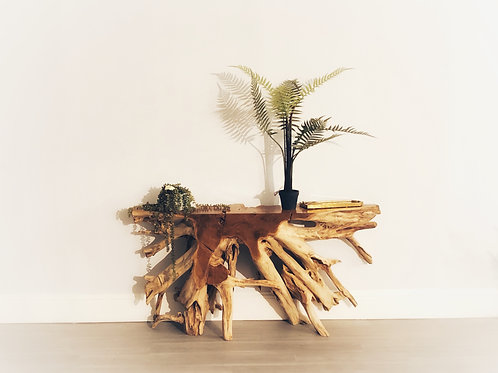 Teak Root Console Table (Natural Finish)