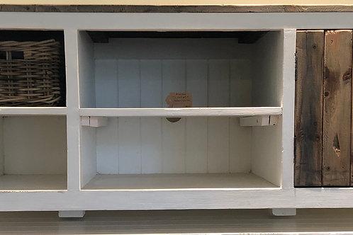Aimann TV Cabinet (Brown/White)