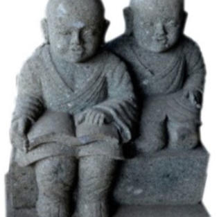 Pair of Monks Reading