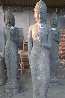 Natural Finish Standing Buddha - Prayer