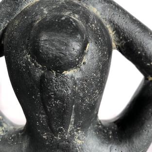 Yoga Pose Arms Low Hair Detail