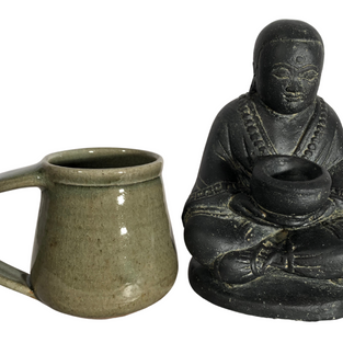 Monk with Bowl Scale